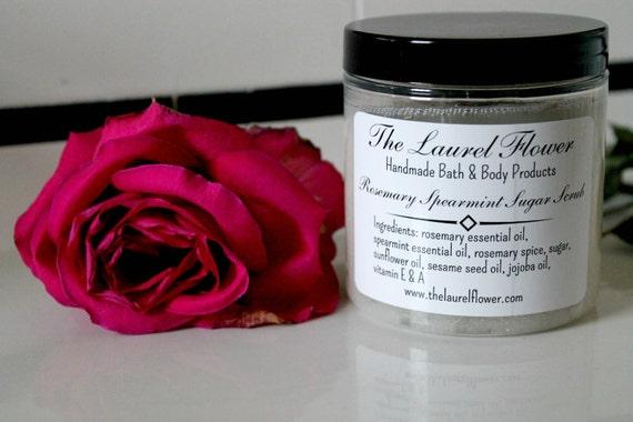 Rosemary Spearmint Sugar Scrub-Exfoliating Sugar Scrub-Natural Skin Care-Natural Sugar Scrub