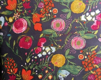 ART GALLERY FABRIC Budquette Nightfall in Viole from Emmy Grace designed by Bari J. V-5607. Choose your cut.