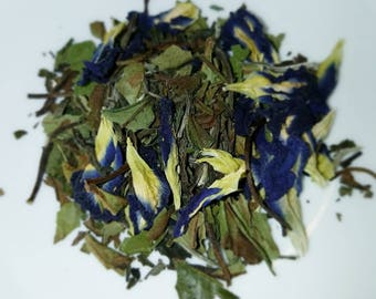 Blue Peony - White Peony Tea with Butterfly Pea Flowers,  Blue Tea,  Color-Changing - Just add Lemonade