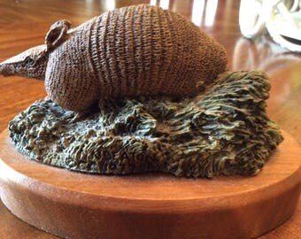 The Hamilton Collection, The Audubon Bronzes, Limited Edition, Vintage Armadillo , Signed Limited Edition, Herman and Norman Denton Artist
