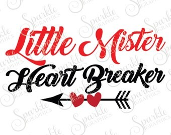 Little Mister Heart Breaker Cut File Heart Arrow Boho Mister Valentine Clipart Svg Dxf Eps Png Silhouette Cricut Cut File Commercial Use