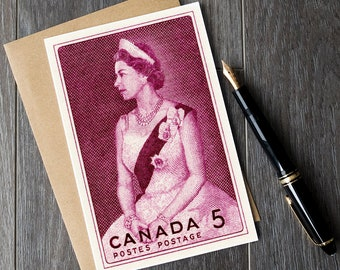 Queen Elizabeth birthday cards, Queen Elizabeth 2 greeting, Canada christmas cards, canadian retirement cards, canadian monarch art prints
