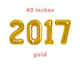 """2017 Number Balloons 