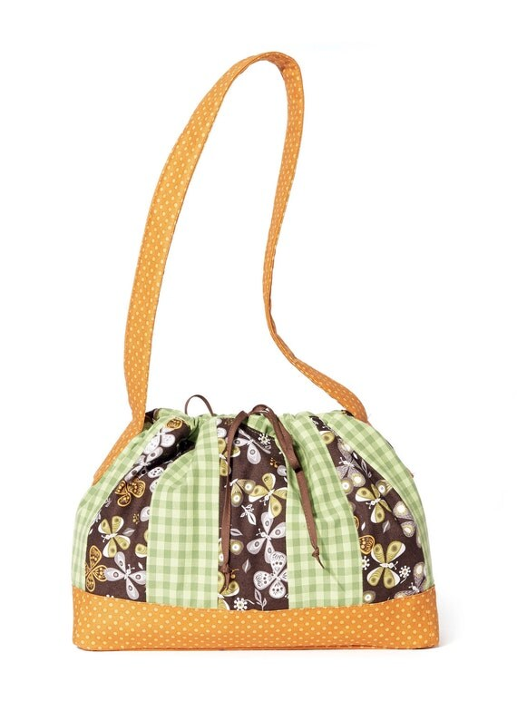 Sewing Pattern For Striped Drawstring Bags Kwik Sew