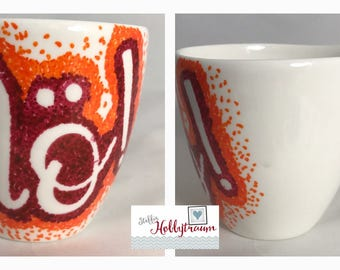 hand-painted Cup, coffee cup, coffee, CoffeeCup, Cup