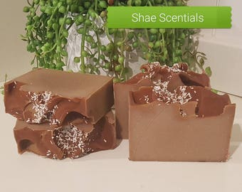 SALE!! Chocolate Slice Soap, Handmade Soap, Australian Soap, Cocoa Butter Soap, Shae Scentials