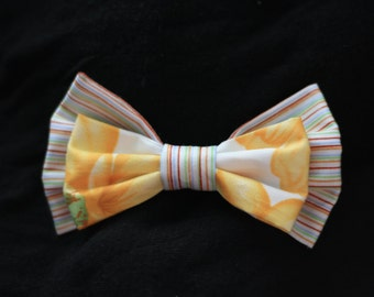 Yellow Flowers Pattern Bow