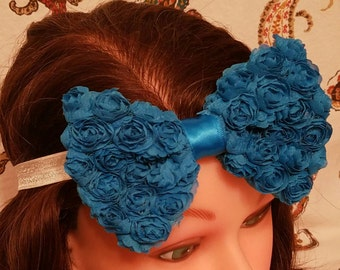 Chiffon Rosette Bow - Blue - Headband