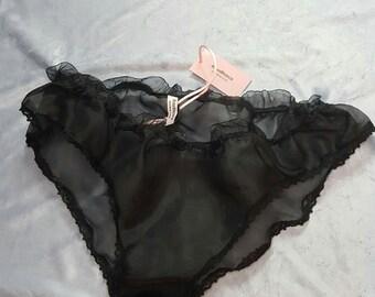 Giulia culotte, handmade, organdy silk, lace