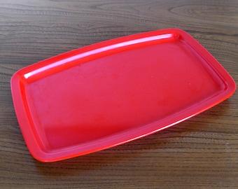Fabulous red melamine, vintage Rosti Mepal tray, 1960's Danish design, mid century classic