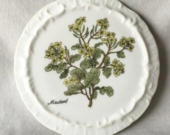 Mustard Floral Wall Art // Decorative Plate // Decorative Ceramic Plate // Floral Decorative Plate // Floral Wall Art // Ceramic Wall Art