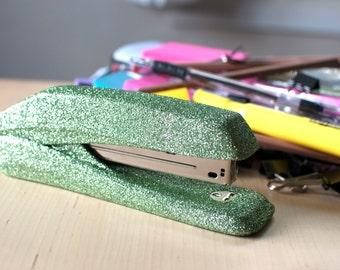 Salty Green Glitter Stapler, Office Supplies, Glitter Office Supplies, Decorative Stapler, Stapler, Green Office Supplies, Glam Office