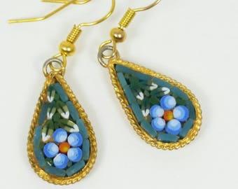 Vintage Earrings Italian Mosaic
