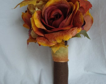 Fall Brown and Gold Bouquet