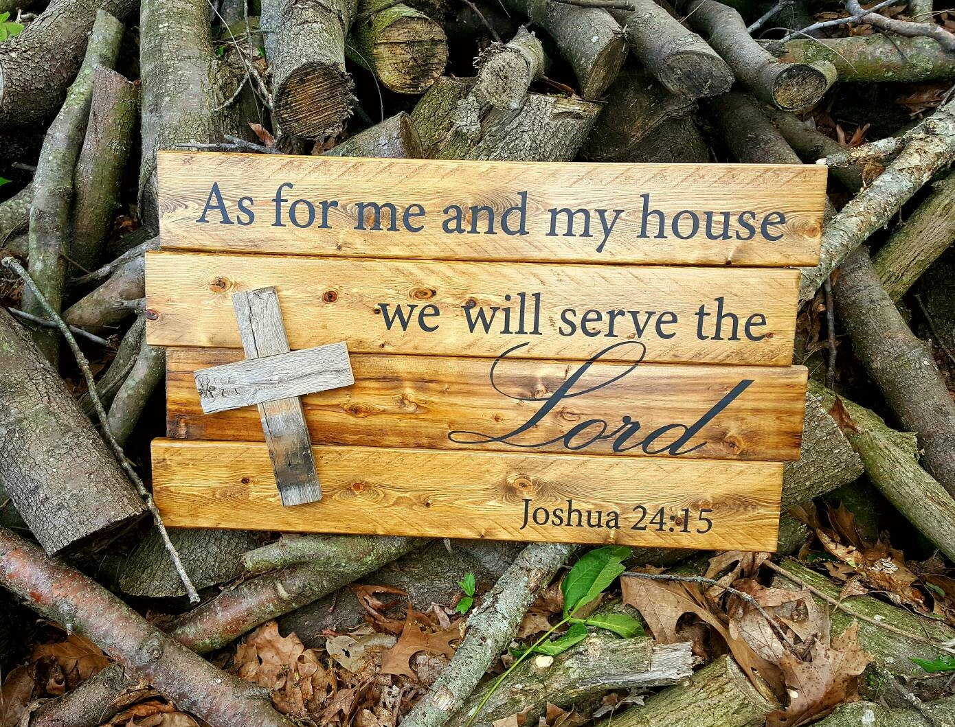 As for me and my house wood sign, Bible verse wall art, Christian ...