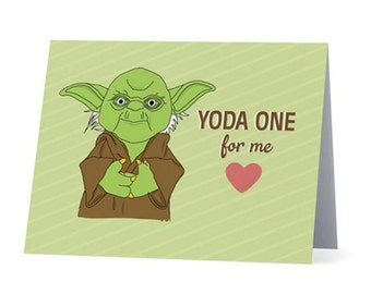 YODA ONE for ME  | Love / Anniversary / Valentines card