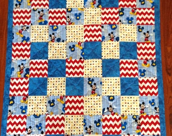 Mickey Mouse Quilt Etsy