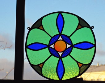 Stained glass Mandala suncatcher