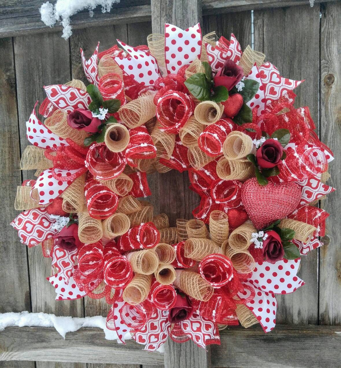 Valentine Wreath Valentine's Day Wreath Rustic Valentine