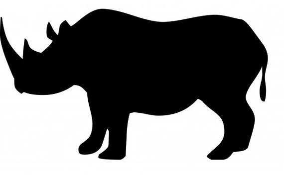 Rhino Rhinocerous Stencil Made From 4 Ply Mat Board