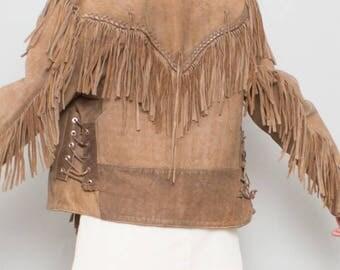 70's Fringe leather Woodstock Jacket