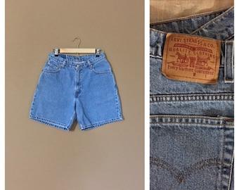 Waist 29 Levis High Waisted Shorts / Levis Shorts /Booty Shorts /Levi High Waisted Denim Shorts /Jean Shorts / Cutoff Shorts / Levis Cutoffs