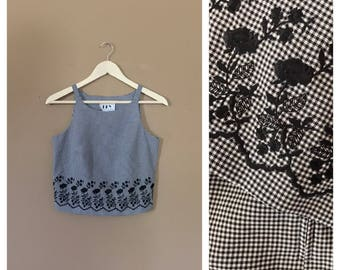 90s crop top/ 90s hip hop clothing / 90s Shirt / 90s grunge shirt / 90s Blouse / 80s clothing / 90s clothing / 90s grunge clothing