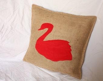 Swan Motif Cushion cover