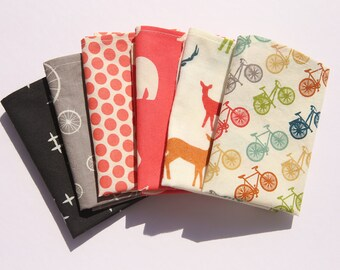 6 handkerchiefs cotton - washable - wipe - reusable Kleenex - Pocket durable washable handkerchief hankie - Zero waste
