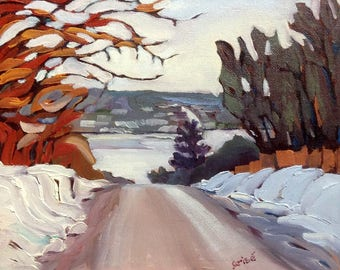 Small Art - Top Of The Hill 10x8 - FREE SHIPPING*