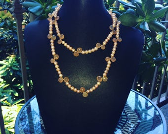 JUST PEACHY!!!! Step into summer with this gorgeous colored necklace to compliment your summer attire.