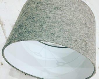 Light Grey Wool Felt Lampshade - Large