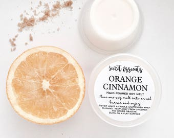Orange Cinnamon Natural Soy Wax Candle Melts. Favor. Gift