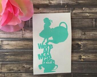 Were all mad here | Alice in Wonderland | Disney Decal