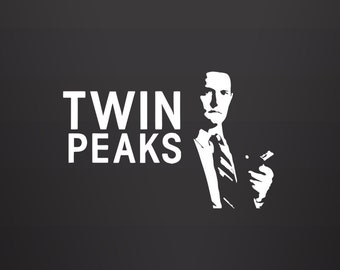 Dale Cooper Decal - Twin Peaks Sticker / Agent Dale Cooper / David Lynch