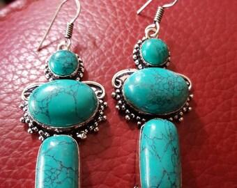 Turquoise Gemstone Earrings!