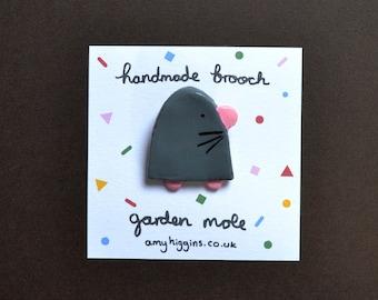 Garden Mole Brooch