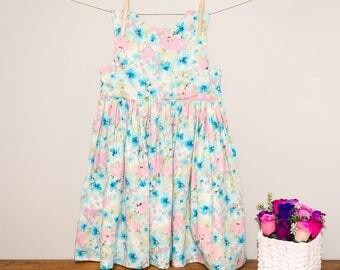 "Todder/Girls ""Tadah!"" Floral Tea Party Dress Size 8"