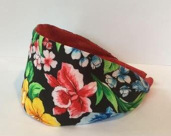 Tropical Headband, Floral Headband, Wide Headband, Headband For Women, Adults Headband, Short Hair Headband, Girls Headband,