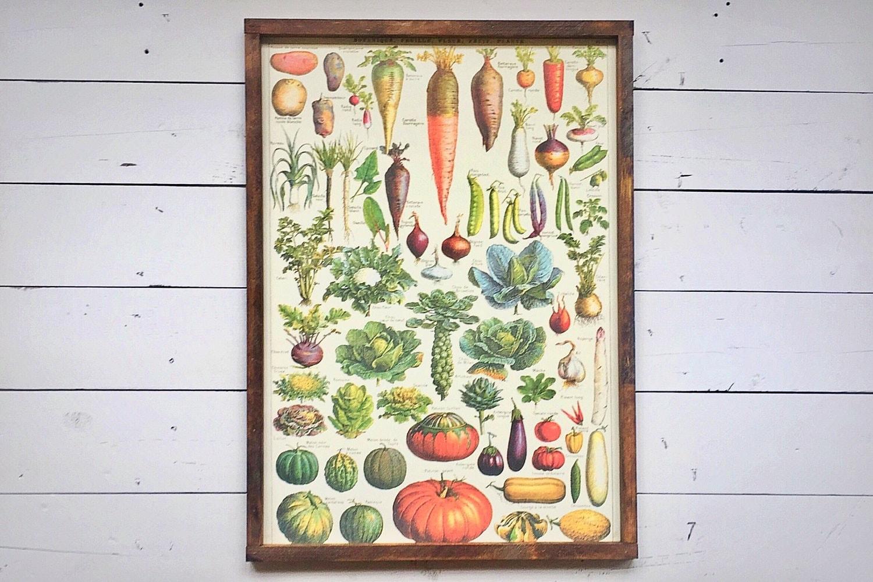 French Vegetable Garden Sign Farmhouse Decor Rustic