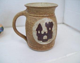 Studio Art Pottery Mug Tankard Stein 1978 Minnesota Renaissance Festival Brown Free Shipping