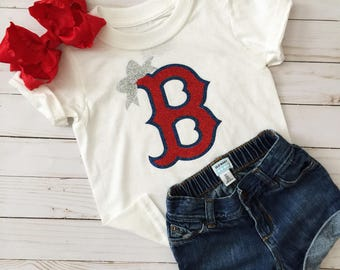 Boston Red Sox Shirt• Boston Red Sox Girls Shirt• Kids Red Sox• Baby Red Sox• Toddler Red Sox• MLB Shirt• Baseball Shirt