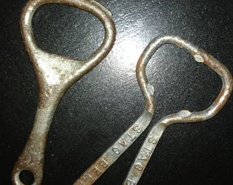 2 Early 1900's  metal bottle openers