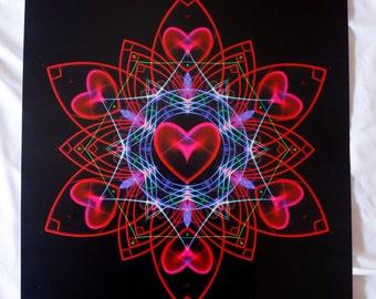 Hearts Vibration A3 Print