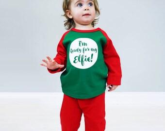 Elfie Pyjamas - let me take an elfie - ready for my elfie pyjamas - elfie baby pyjamas