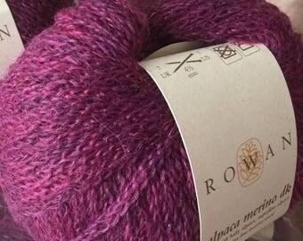 Rowan Alpaca Merino DK, alpaca and wool blend chainette yarn