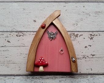 Outside/Indoor garden Fairy Door Elf Door Pink Range Beautiful Handmade