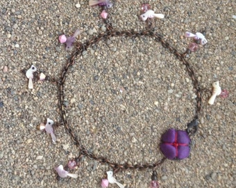 ankle bracelet and necklace