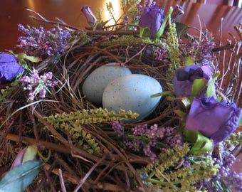 Purple Floral Bird Nest