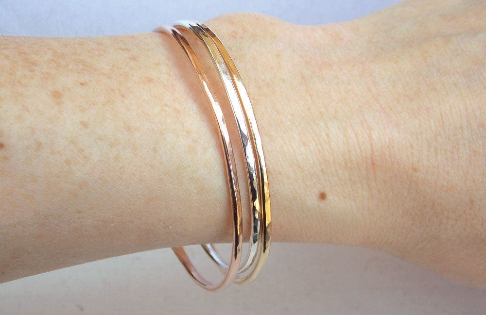 tailored bracelet goldtone jewelry bracelets piece product plated watches goldplated set bangles free bangle hammered palmbeach style